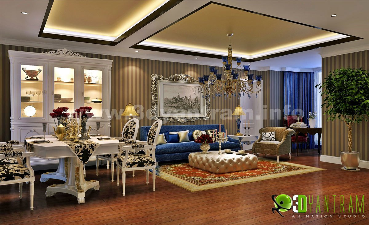 Stunning 3D Home Living Room Design View Part 43