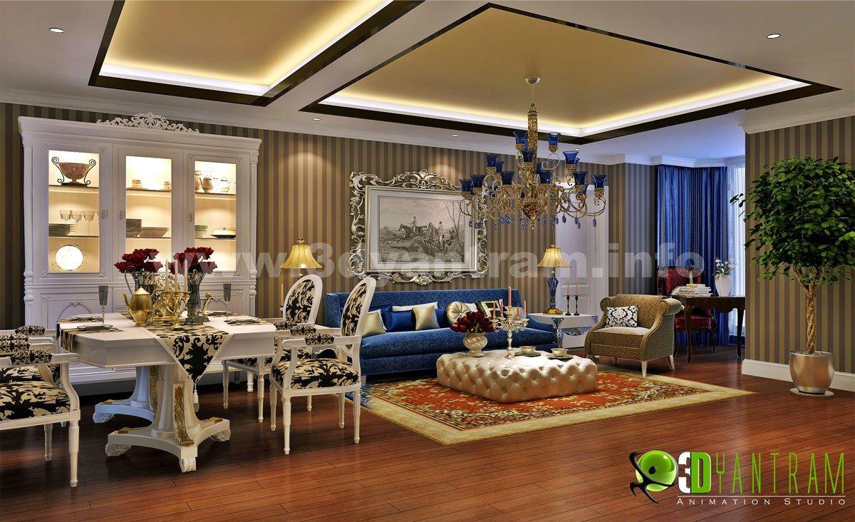 Stunning 3D Home Living Room Design View Part 43