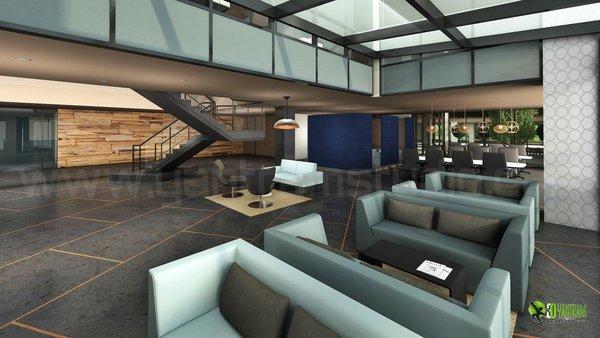 Amazing Office Lobby Interior Design View