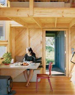 A light-filled nook illuminates simple materials beautifully.