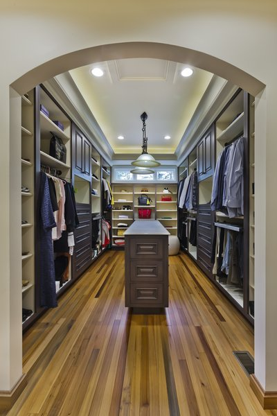looking into the master closet Photo 17 of Tuscan Retreat modern home