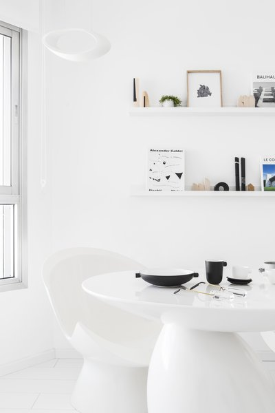 White minimalist Living Room Photo 7 of White Space in the White City modern home