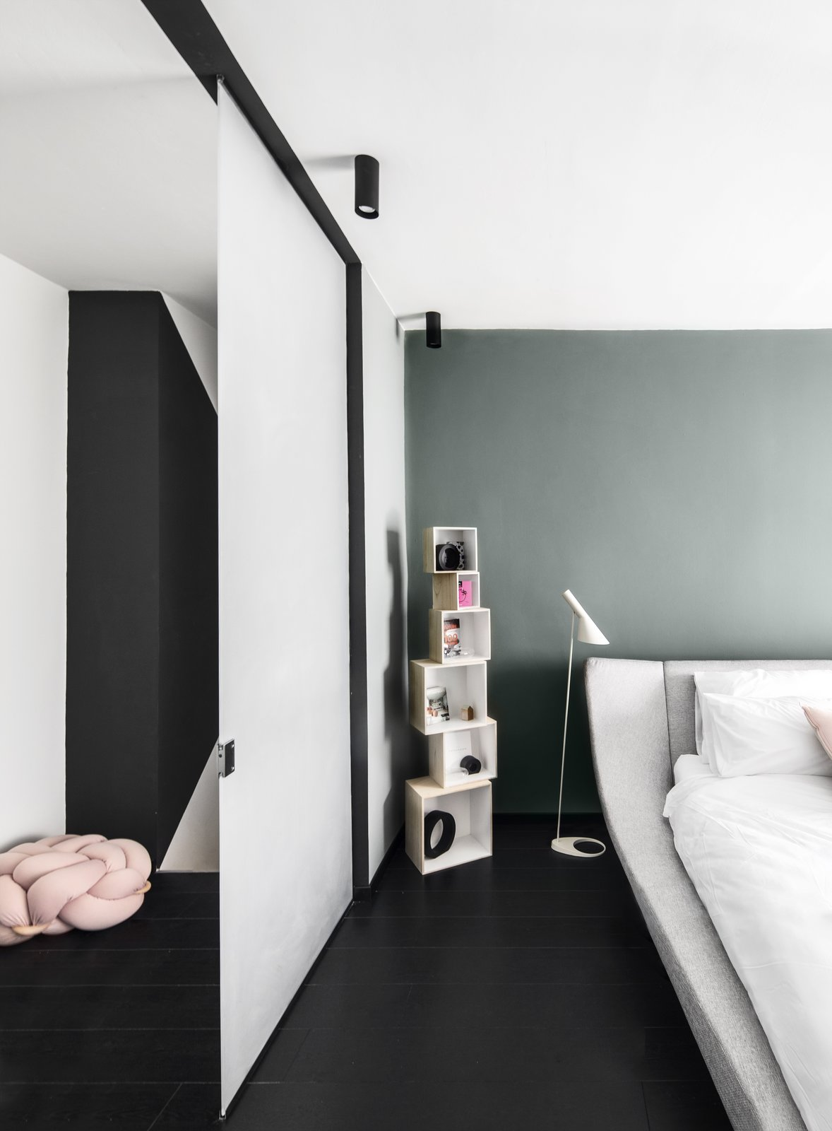 Master Bedroom Tagged: Bedroom and Bed.  A|A Duplex by YAEL PERRY | INTERIOR DESIGNER