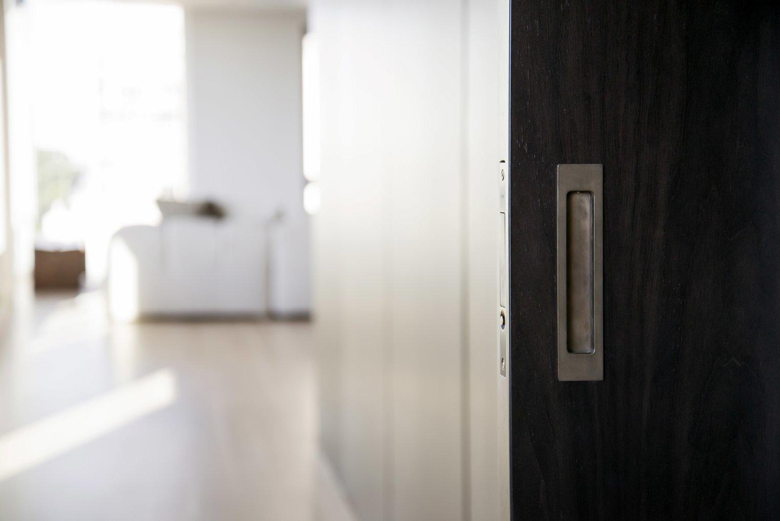 Bedroom - Oil Rubbed Bronze Pocket Door Hardware  Nob Hill Residence by Imbue Design