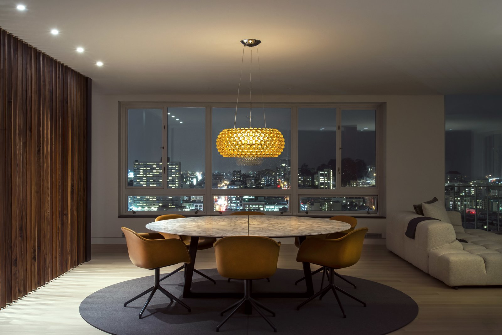 Dining Room - Night City View
