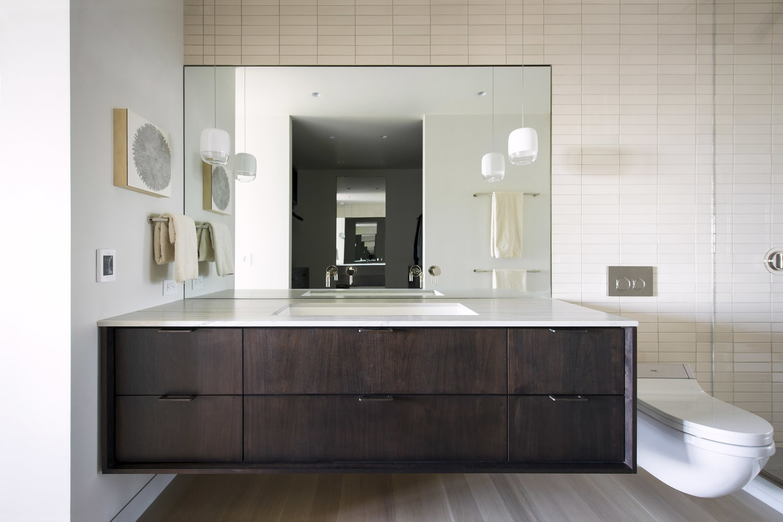 Master Bathroom - Reflection of Master Closet  Nob Hill Residence by Imbue Design