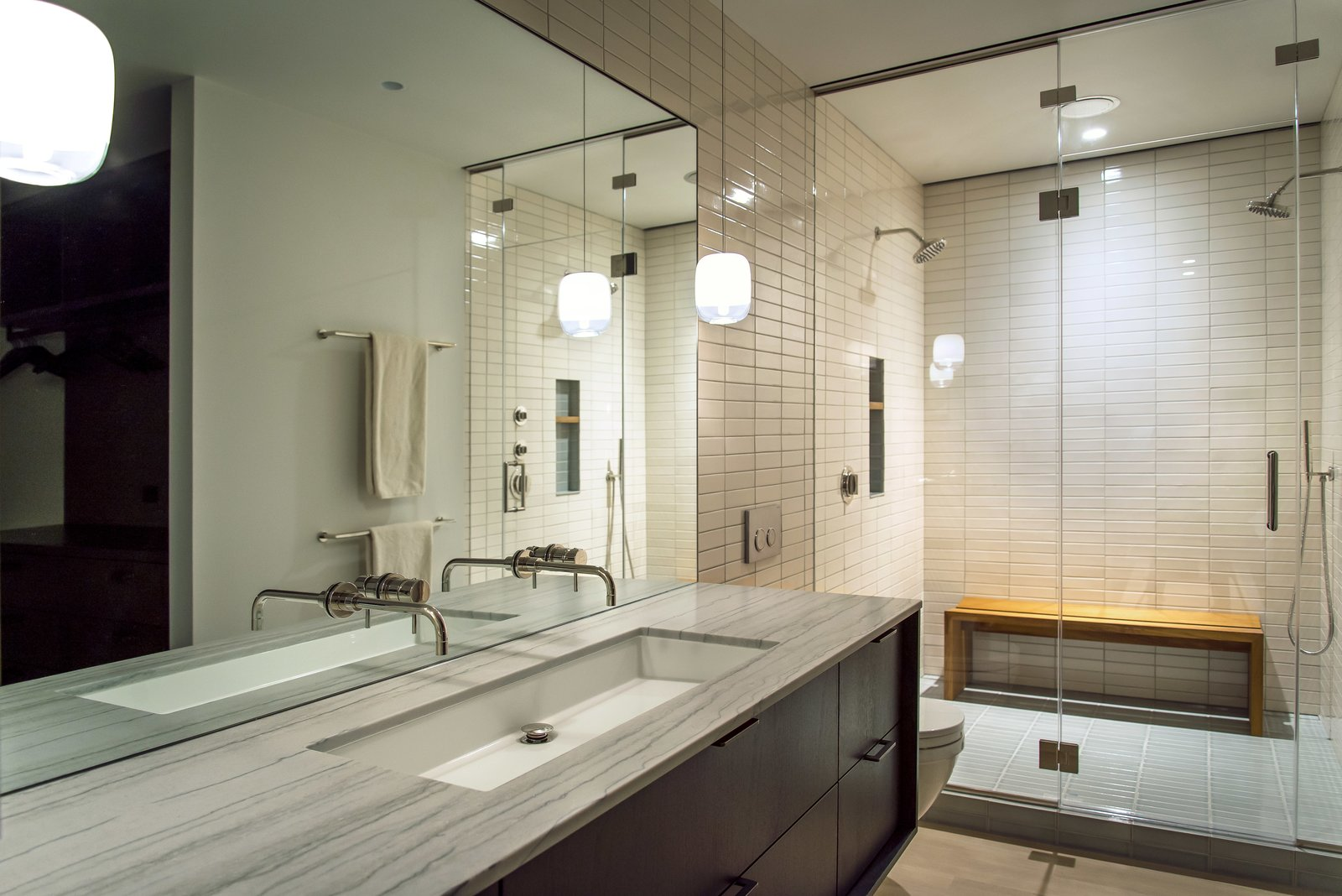 Master Bathroom  Nob Hill Residence by Imbue Design