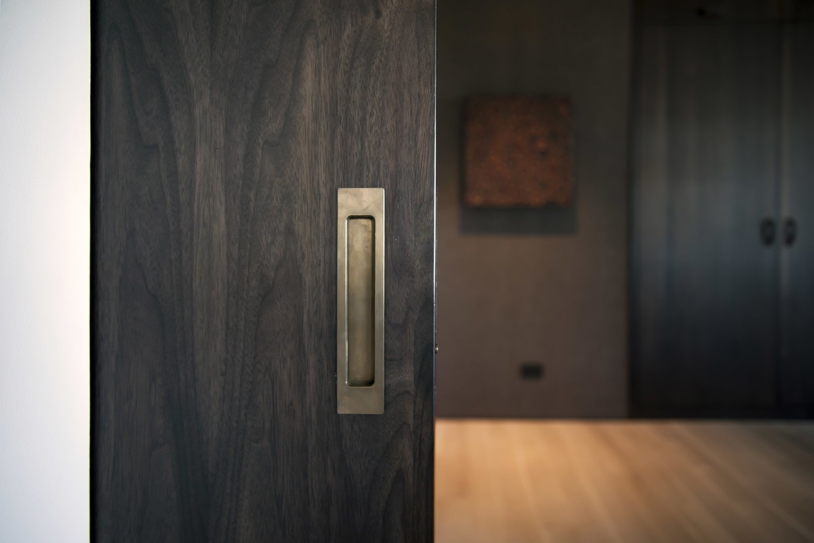 Office - Pocket Door Detail  Nob Hill Residence by Imbue Design