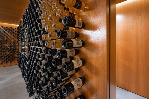 Cantilevered Wine Bottle Storage Display Photo  of Utah Wine Cellar modern home