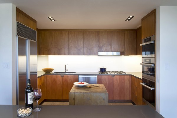 kitchen with butcher block