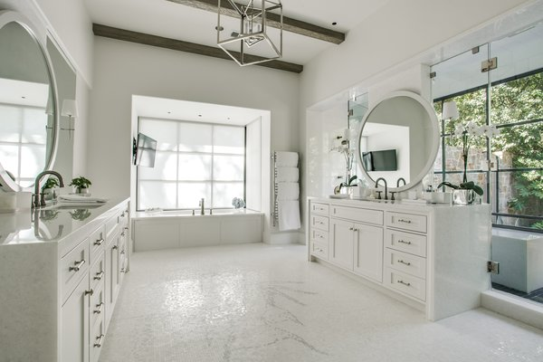 Hanoi Pure White Transitional Kitchen and Bath by Aria Stone Gallery