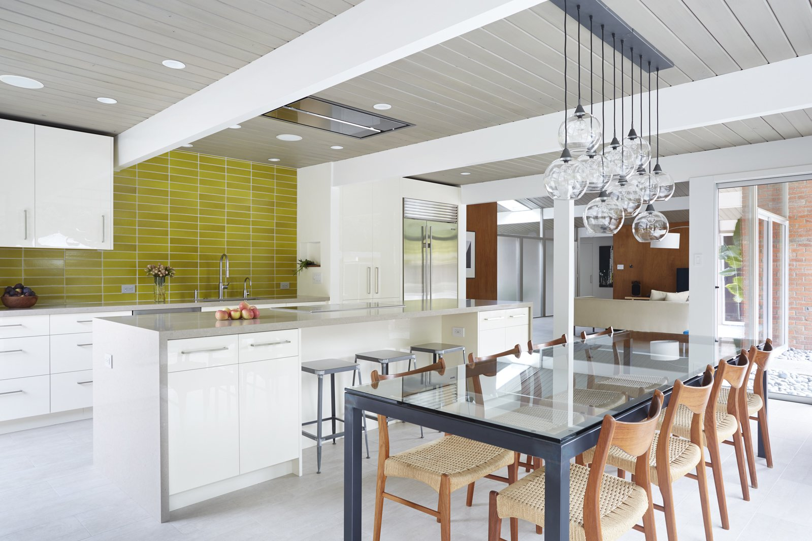 Renovated Eichler Kitchen and Dining Space  Photo 6 of 12 in How the Colors in Your Kitchen Affect Your Appetite from Northern California Eichler