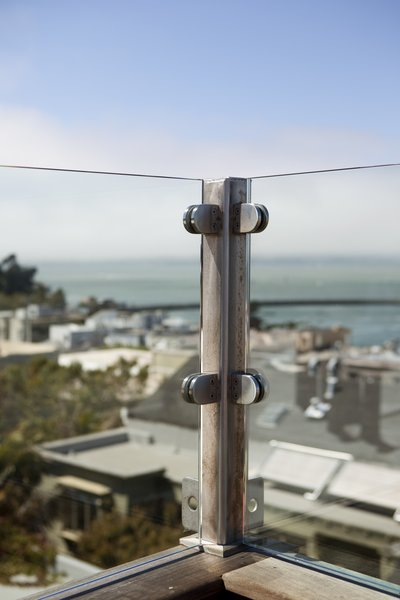Glass Railing Detail Photo 6 of Russian Hill Roof Deck modern home