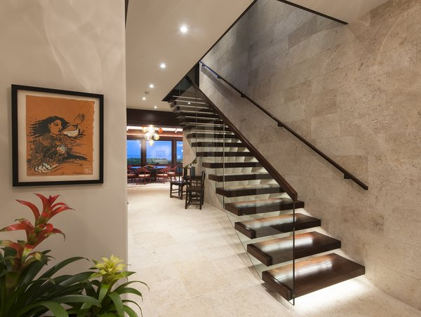 Canitilever Stairs Photo 3 of Oahu Beachfront Residence modern home
