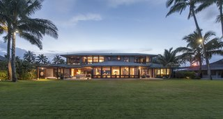 These 7 Hawaiian Modernist Escapes Will Have You Dreaming of the Islands - Photo 7 of 7 - This home shared from our Dwell community is set on a spectacular Oahu beachfront and was envisioned as a gathering spot for the homeowner's large extended family. Designed by Gast Architects, its numerous sustainable features led to LEED Gold certification.