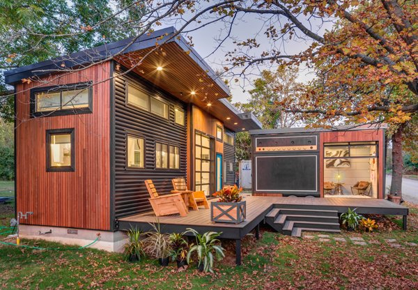 """""""Amplified"""" Tiny House -  Brazilian Abaco hardwood and corrugated metal siding Photo  of Amplified Tiny House modern home"""