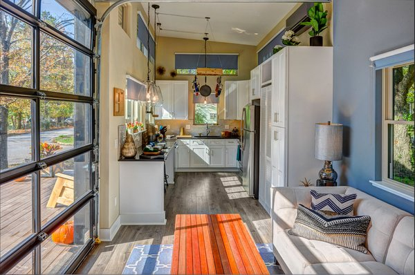 Interior. The many windows allow for maximum light throughout the day. Photo 10 of Amplified Tiny House modern home