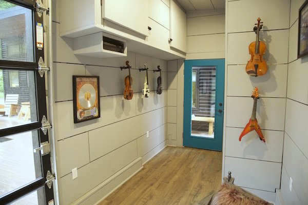 Inside soundproofed music studio Photo 11 of Amplified Tiny House modern home