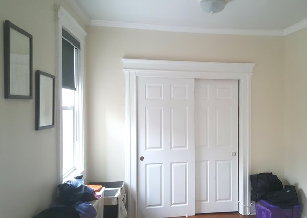 Before. Master bedroom closet. Not much usable storage. Photo  of Master Bedroom Remodel modern home