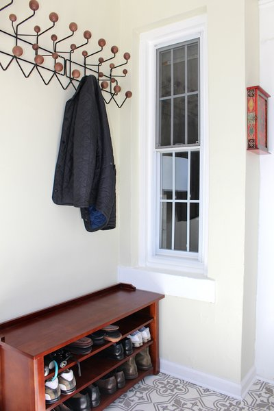 Shoe and coat nook in foyer. Photo 5 of Das Backsteinhaus modern home