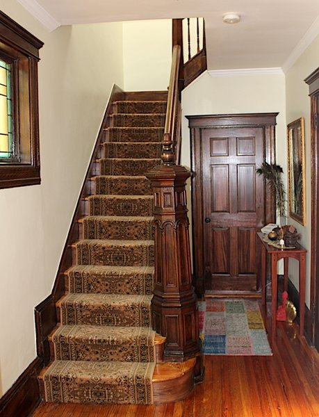 Front hallway and staircase. Photo 8 of Das Backsteinhaus modern home