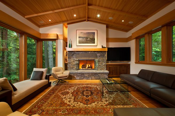 Welcoming living room Photo 10 of Fourth Lake Summer House modern home