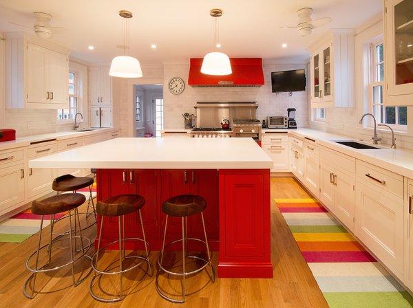 Red Kitchen Photo 9 of Homeland Estate modern home