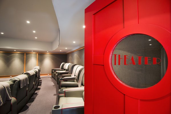Home Theater Photo 10 of Homeland Estate modern home