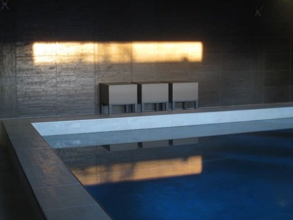 Modern home with outdoor, small pool, and concrete pool. What once was a carport is now an indoor pool.  Photo 9 of Modern Jewel in the Desert