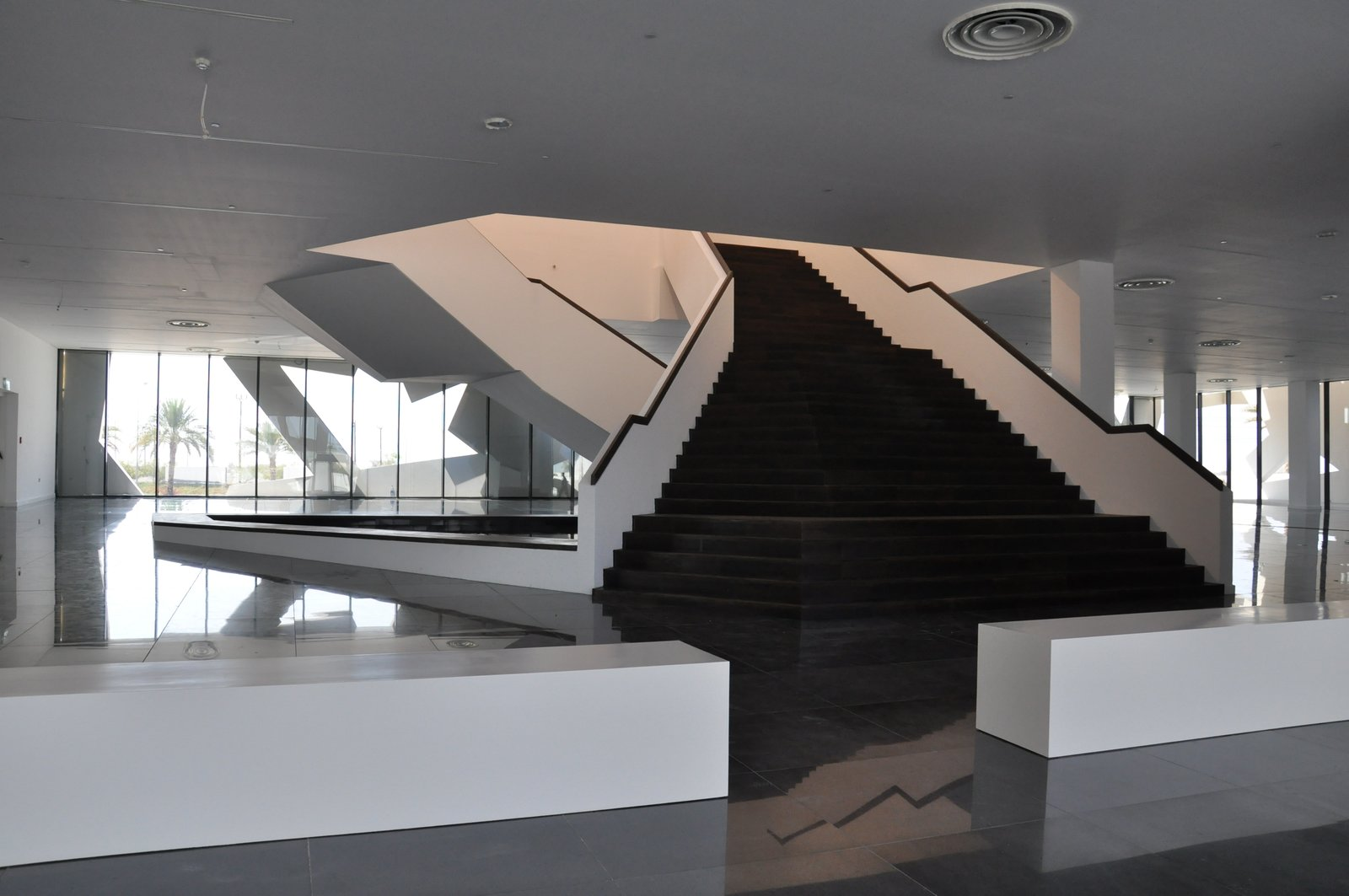 Endless intertwining stairs  Conference and Exhibition Hall at GUtech by Hoehler + alSalmy