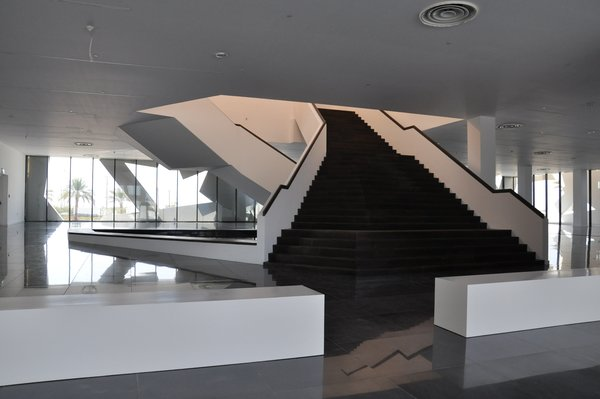 Endless intertwining stairs Photo 4 of Conference and Exhibition Hall at GUtech modern home