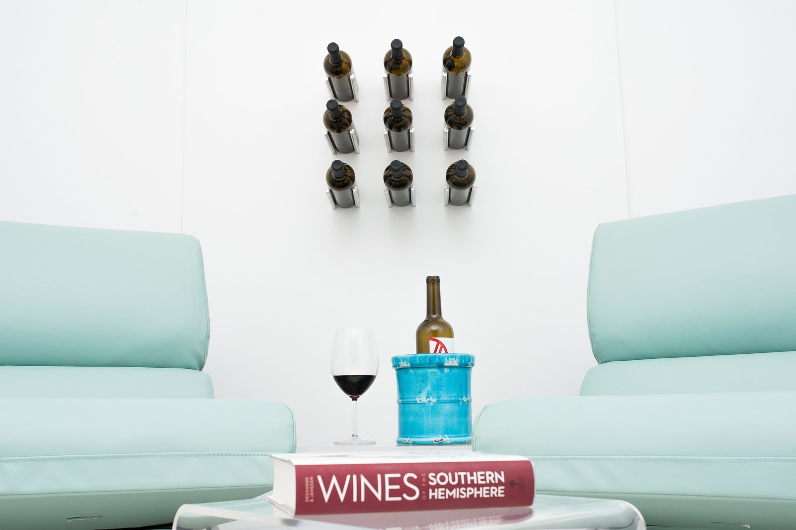 "Vino Rails take the traditional ""cork forward"" wine storage design, and redefine it with contemporary style. These metal wine pegs attach direct to any wall surface, even drywall.   Vino Series Metal Wine Pegs by VintageView Wine Storage Systems"