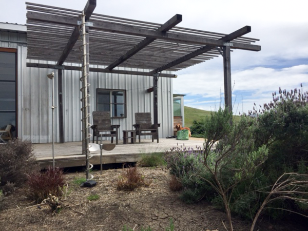 Main barn and deck (and barking dog)  Barking Dog Ranch by kitHAUS