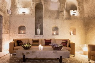 Ever Wanted to Stay in a Cave That's Actually Pretty Modern Inside? - Photo 6 of 10 - The House Hotel Cappadocia in the Turkish town of Ortahisar, Cappadocia, still retains original features like frescoes and crown moldings, while introducing modern amenities like sleek, freestanding baths and a luxury Haman spa.