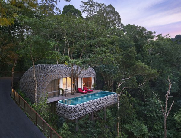 Opened in 2015, Keemala, which is located in Kamala Village in Phuket, Thailand, offers four private accommodation options – Clay Cottages, Tent Villas, Tree Houses and Bird's Nest Villas. All villas come with pools with views of the jungle canopy.