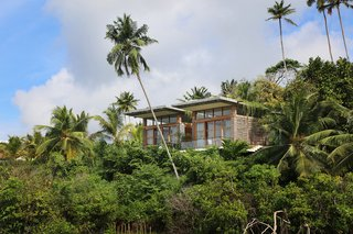 Escape to the Jungle in One of These Modern Forested Retreats - Photo 2 of 10 - Surrounded by Lake Koggala, TRI Hotel is a sustainably-built Sri Lankan resort with green walls and roofs, recycled wood furniture, and solar heating. It offers spectacular 360-degree views of the lake and verdant rainforests.
