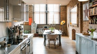 Soak Up the Creative Vibes of London's East End at One of These Rental Homes or Hotels - Photo 4 of 9 - With exposed brick walls, an old metal desk, and a rooftop herb garden, Ny-Lon provides an industrial but comfortable place to hide out in a Shoreditch warehouse.