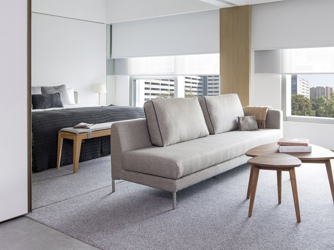 Located near the bustling commercial area of Kowloon and the heritage district of Yau Ma Tei, modern Japanese and Scandinavian influences meet at Hotel Stage, with clean, fresh rooms in light greys, taupe and warm woods.