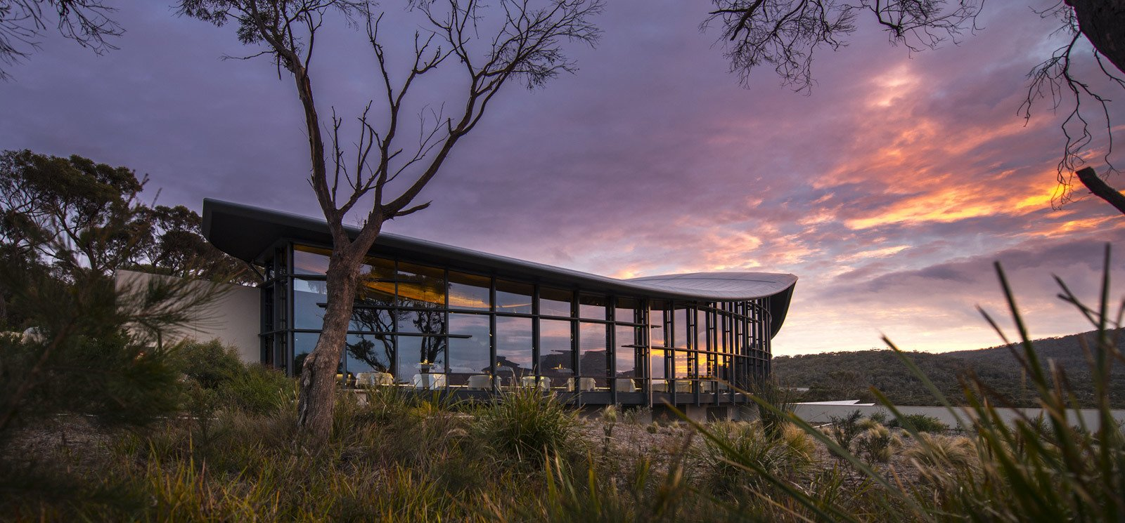 Photo 1 of 10 in This Modern Tasmanian Resort  Reflects the Natural Forms Surrounding It