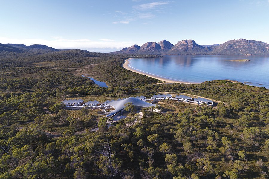 Photo 2 of 10 in This Modern Tasmanian Resort  Reflects the Natural Forms Surrounding It