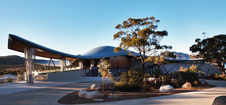Photo 10 of 10 in This Modern Tasmanian Resort  Reflects the Natural Forms Surrounding It