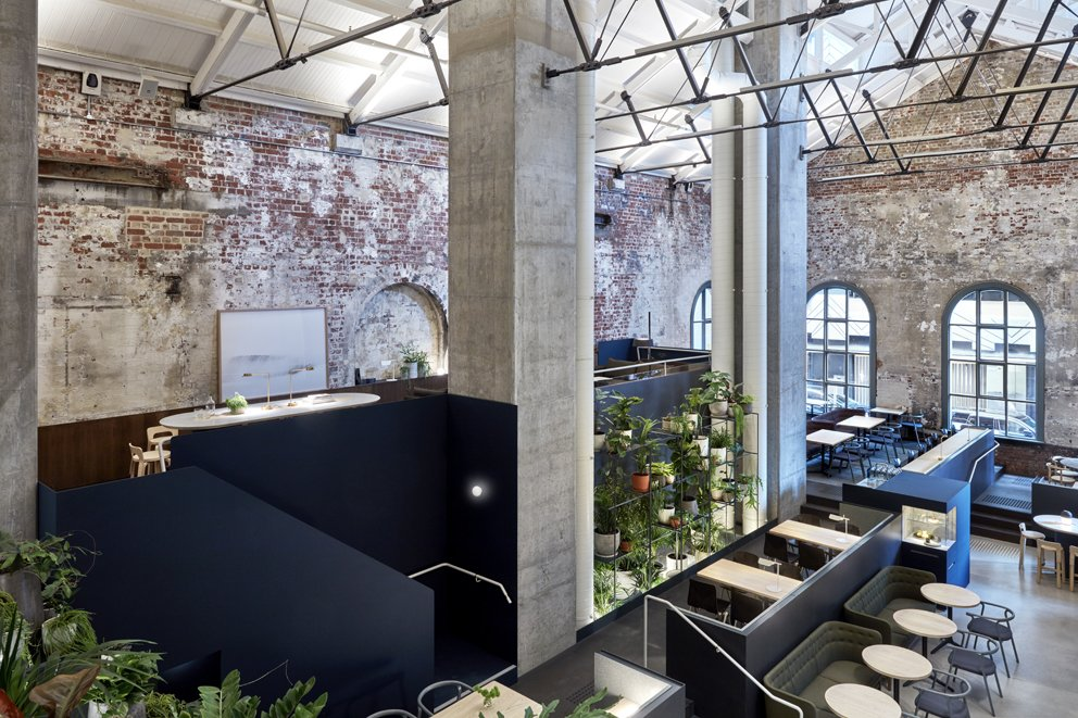 Photo 7 of 10 in An Old Power Station in Melbourne is Transformed Into A Modern Tiered Restaurant