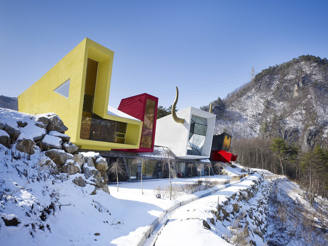 Tagged: Exterior and House.  Photo 1 of 11 in A Wacky Rock 'n' Roll Wonderland in the South Korean Countryside