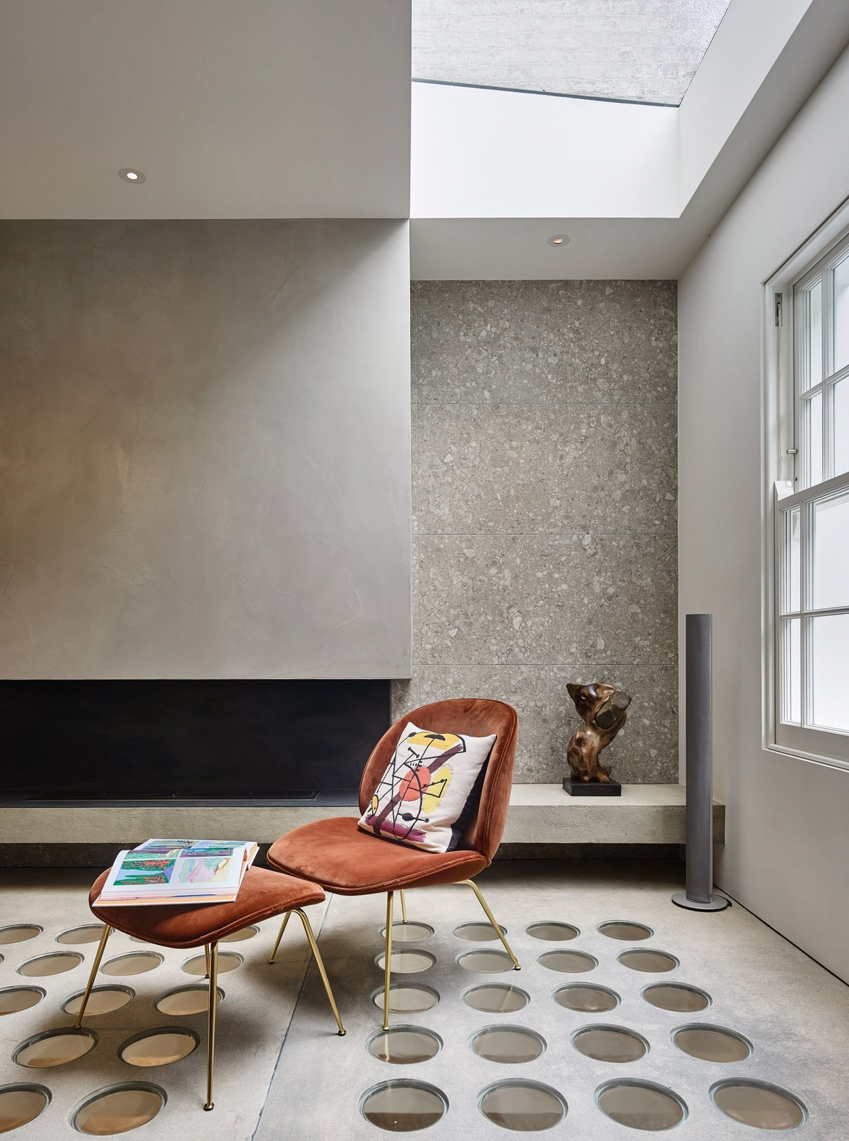 Photo 7 of 12 in Transparent Perforated Circles Bring Light and Movement to This London Terrace House