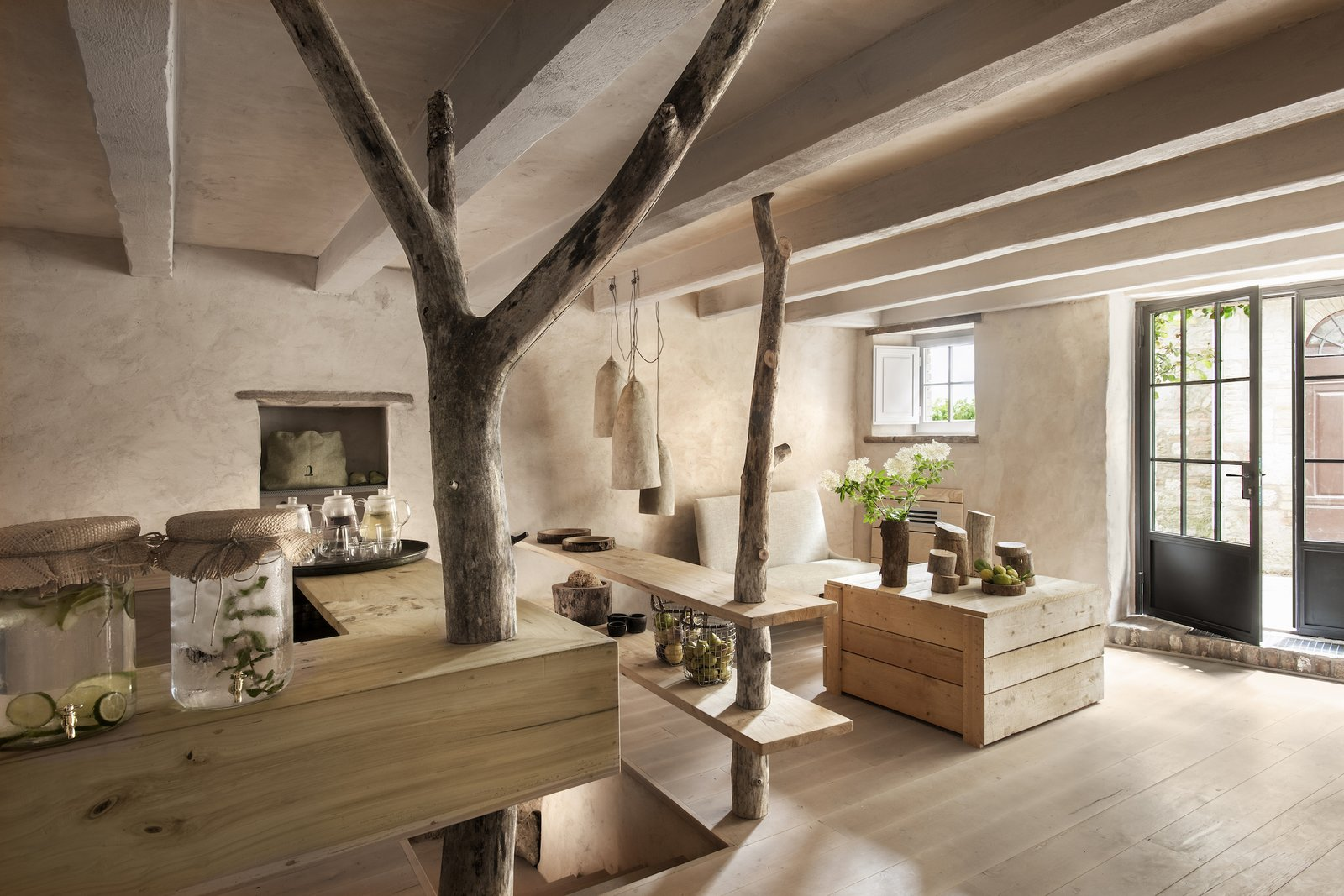 Photo 1 of 9 in A Tree-Filled Spa That Brings Warm Modernism to a 900-Year-Old Tuscan Village