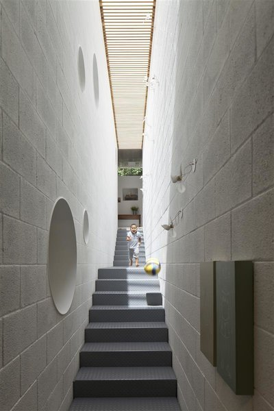 Modern home with staircase and metal tread. Photo 8 of House of an Architect