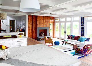 9 Small Spaces With  Color - Photo 5 of 9 - Husband-and-wife design team Robert and Cortney Novogratz mixed vintage and modern furnishings with plenty of color in the modest-sized living room of their eclectic Bellport, New York, beach house.