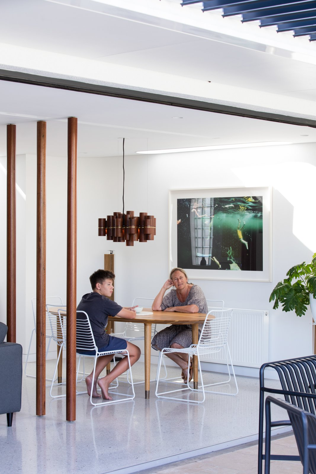Tagged: Dining Room, Chair, Table, and Pendant Lighting.  Photo 11 of 12 in A Heritage Art Deco House in Australia Gets a Modern Update