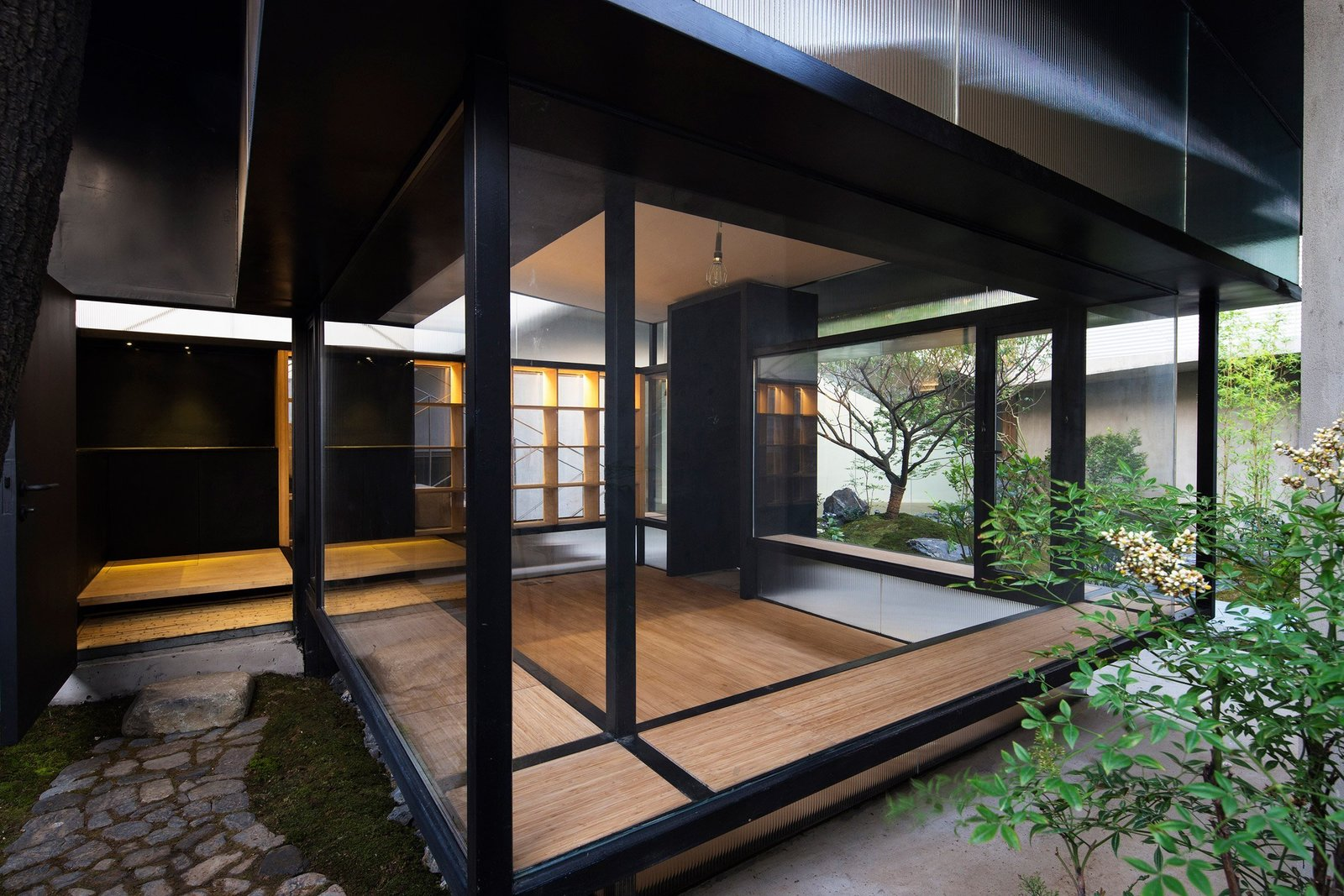 Tagged: Windows, Metal, and Casement Window Type.  Photo 7 of 7 in 7 Tips For Creating Your Own Home Meditation Zone