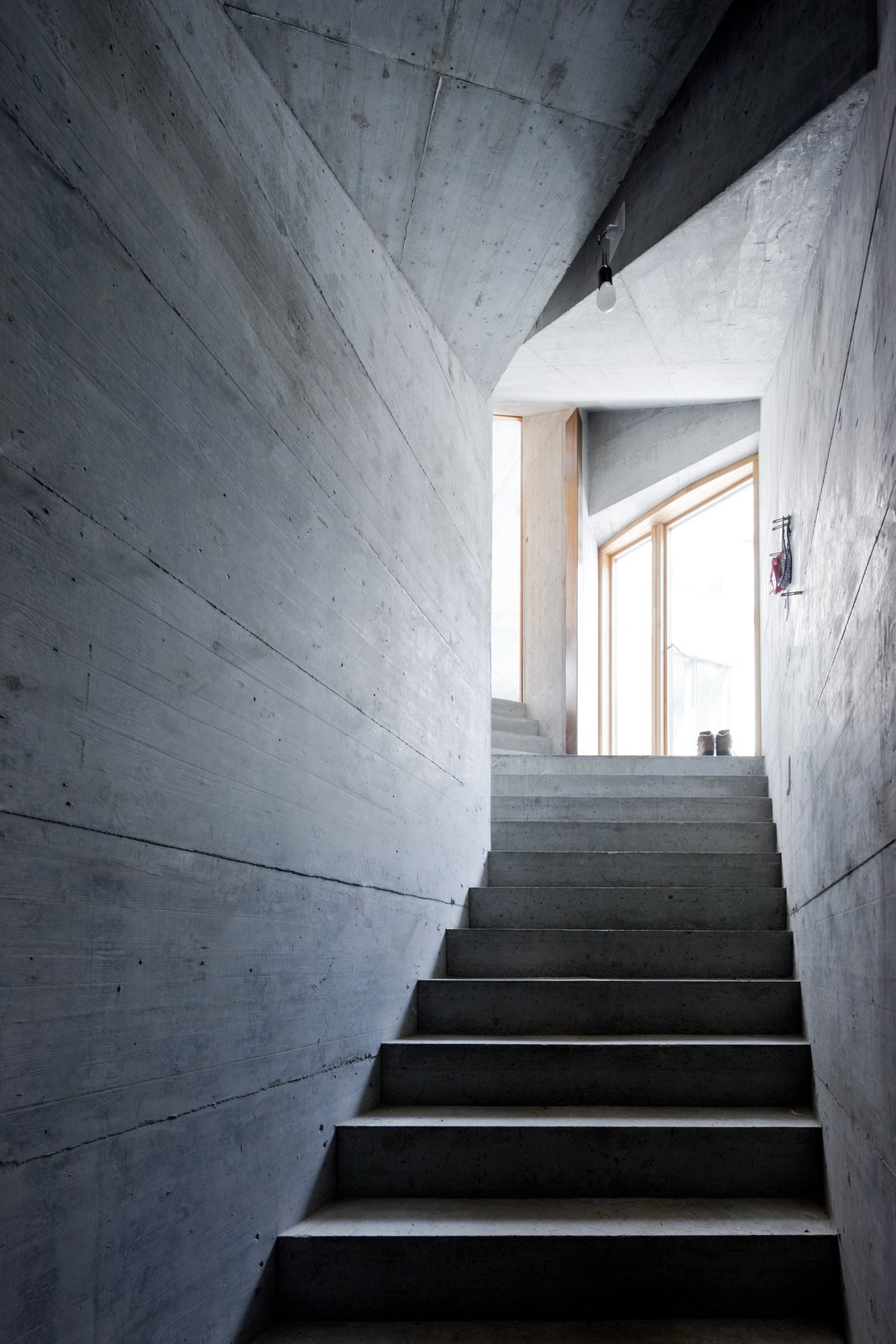 Tagged: Staircase and Concrete Tread.  Photo 4 of 13 in Stay in a Swiss Vacation Home That's Literally Inside a Mountain